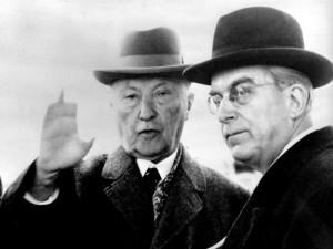 Konrad Adenauer i Hans Globke